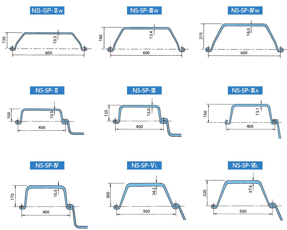 U Type Sheet Pile Steel Fabrication Steel Sheet Pile